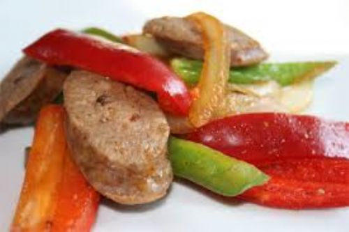 Easy Sausage & Peppers Bake