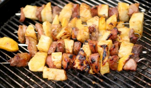 GRILLED PORK PINEAPPLE KABOBS