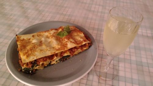 Spinach, Ricotta and Ham Lasagne