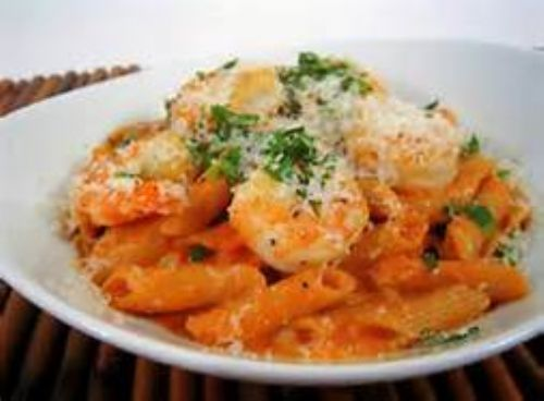 Spicey Shrimp with Penne Pasta