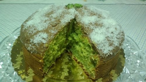 Mint and coconut cake