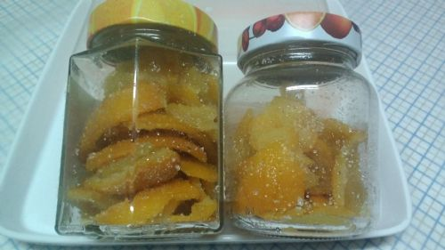 Homemade candied peel (Confettura Tac-Citru).