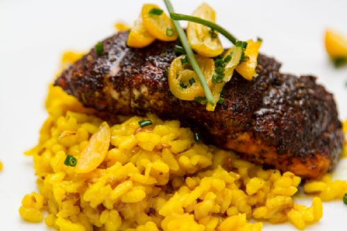 Turmeric & Toasted Flax Risotto