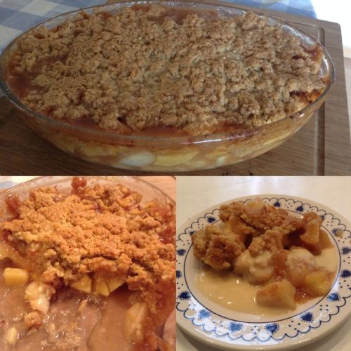 Apple and Pear Crumble by Ina Garten