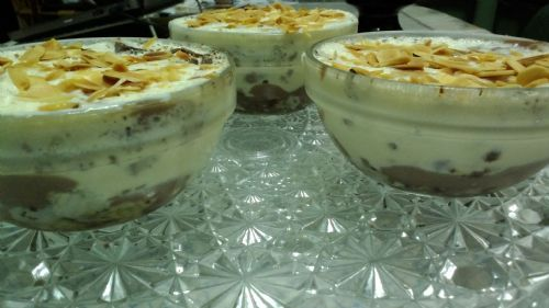 Pernigotti wafer chocolate pudding