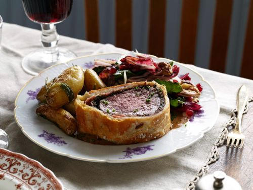Filet Mignon Beef Wellington with Mushroom Pate