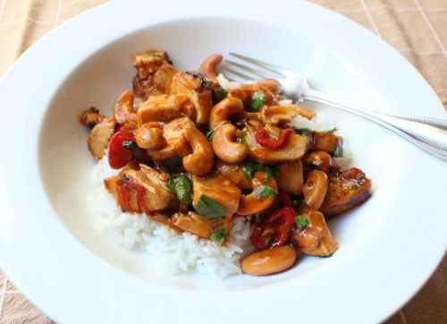 Chicken Shrimp Cashew Stir-Fry
