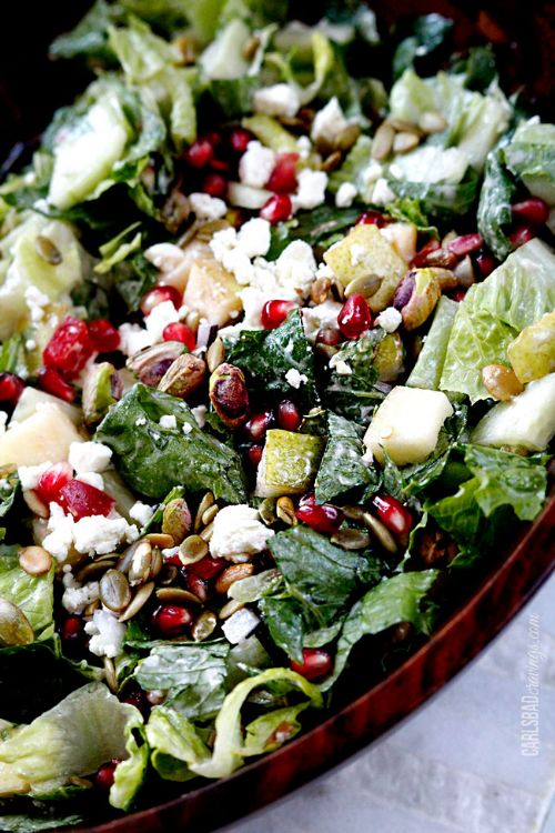 Pomegranate, Pear & Pistachio Salad