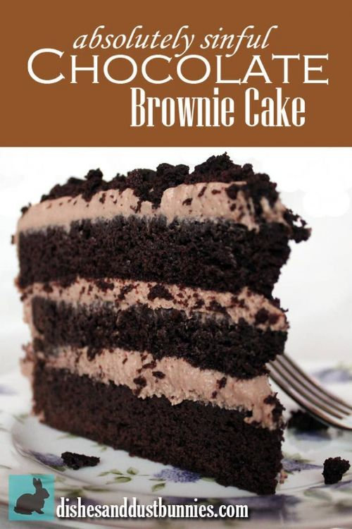 Sinful Chocolate Brownie Cake