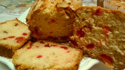 Cherry cake with candied Tangerine peel