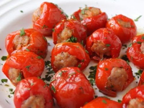 Sausage-Stuffed Peppadews