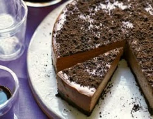 Healthy Triple Chocolate Cheesecake