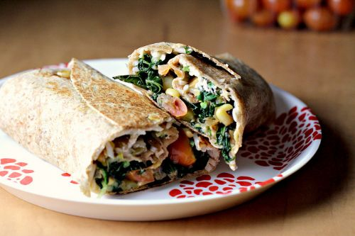 Vegetable and Rice Burritos with Queso Cheese
