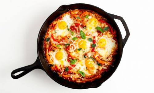 Portuguese Baked Eggs with Choriza