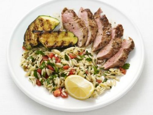Pork and Zucchini with Orzo