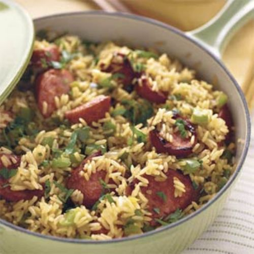 Skillet Sausage and Rice