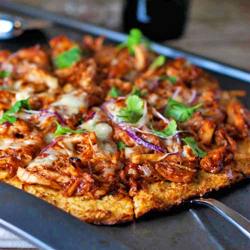 Light BBQ Chicken Pizza
