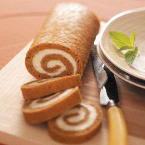 Low Fat Pumpkin Cake Roll