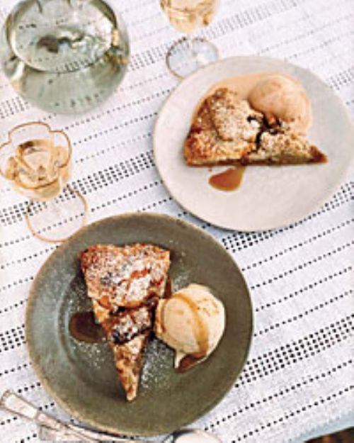 Apple Crostada with Brown Butter Streusel