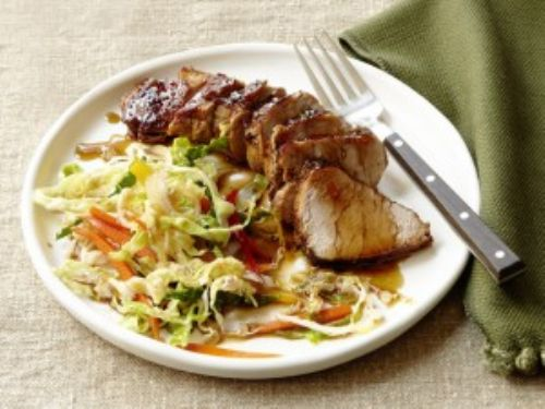 Black and Tan Pork with Spicy Ale Slaw