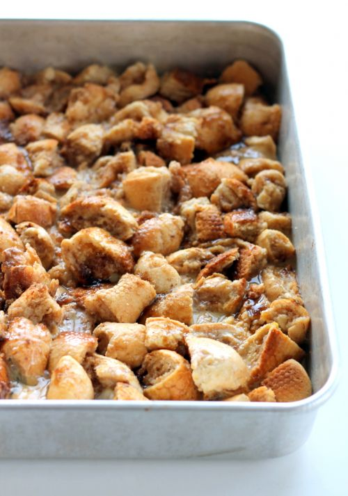 Upside Down Orange Caramel Pecan French Toast Bake