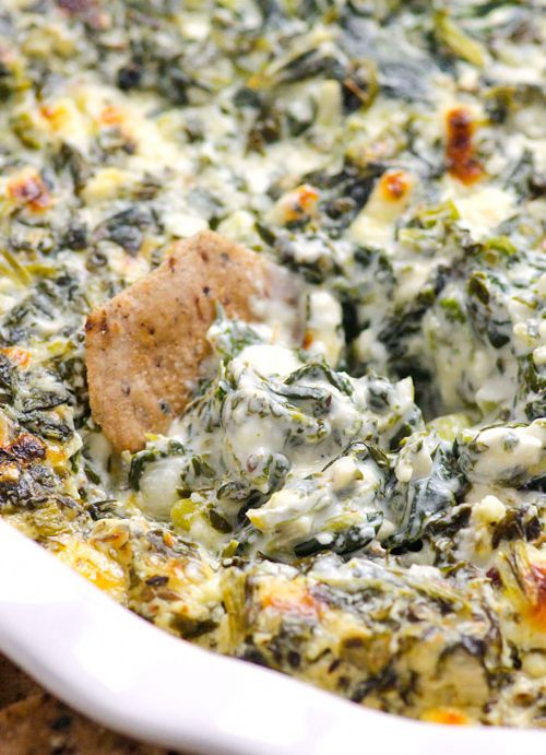 Clean Eating Baked Spinach Feta Dip