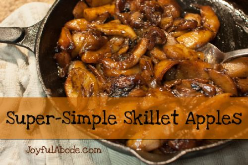 Super Simple Skillet Apples