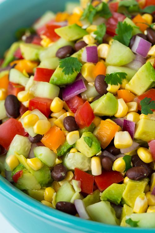 Mexican Chopped Salad with Greek Yogurt Lime Ranch