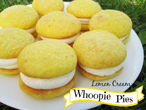 Lemon Cream Whoopie Pies
