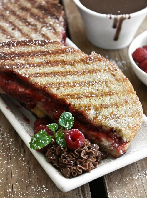 Raspberry Cream Cheese Paninis