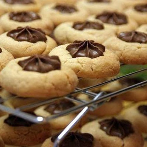 Chocolate Star Peanut Butter Cookies