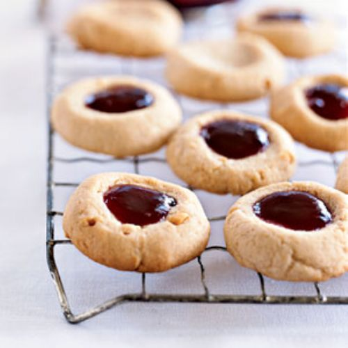 Peanut Butter and Jelly Thumbprints
