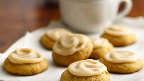 Soft Ginger Pumpkin Cookies with Browned Frosting