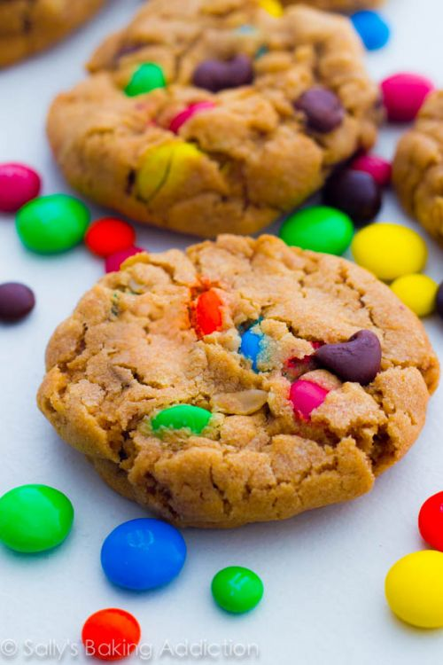 Soft Baked Monster Cookies