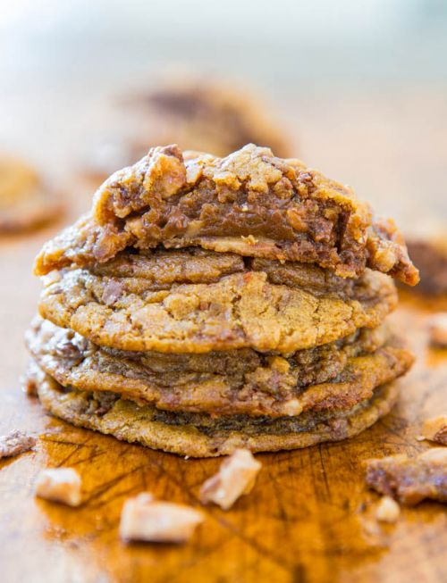 Soft and Chewy toffee and Milk Choco PB Cookies