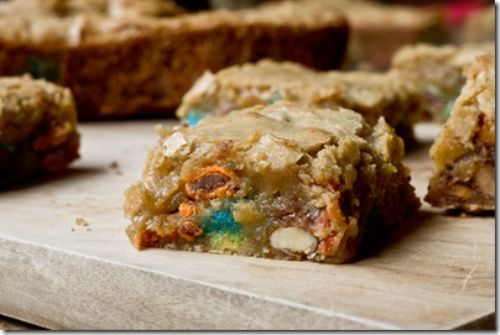 Sweet and Salty Candy Bar Blondies