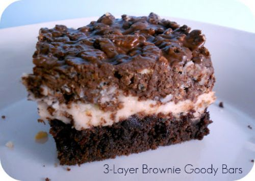3 Layer Brownie Goody Bars