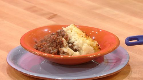 Bolognese Shepherd's Pie with Roasted Garlic Potat