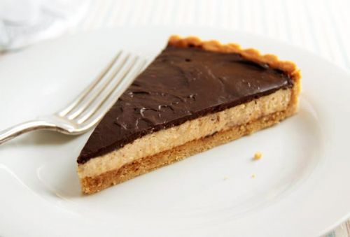 Chocolate Peanut Butter Mousse Tart