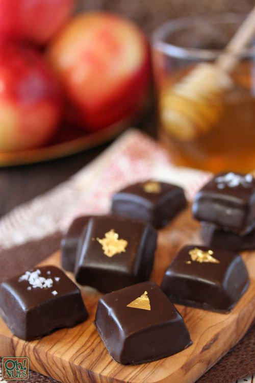 Chocolate Covered Honey Apple Caramels
