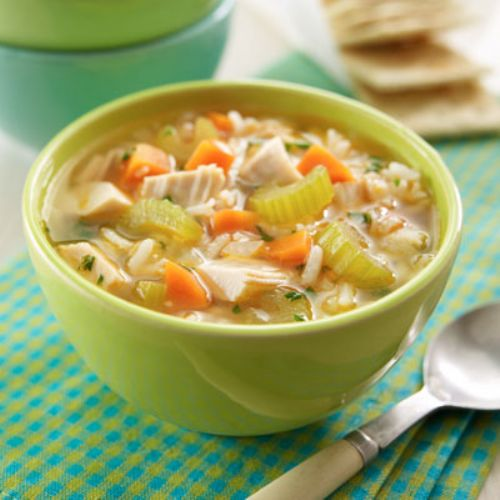 Quick Chicken & Rice Soup