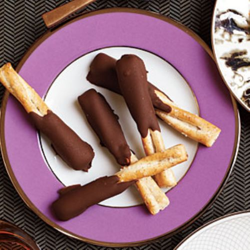PB and Choco Dipped Pretzels
