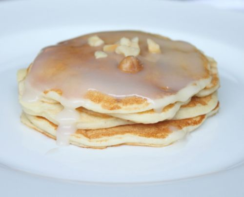 Macadamia Nut Pancakes with Coconut Syrup