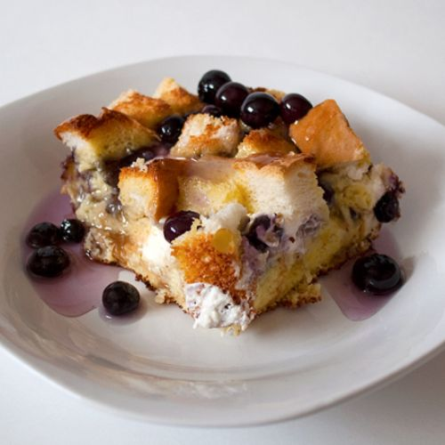 Blueberry Cream French Toast Casserole