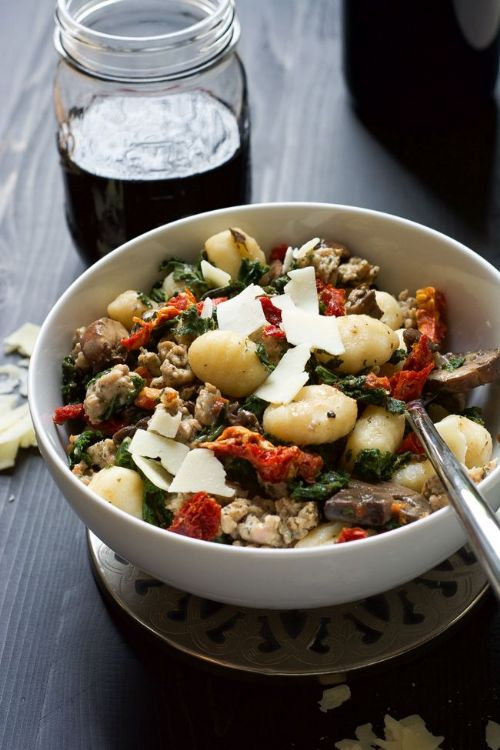Tuscan Kale and Sundried Tomato Sausage Gnocchi