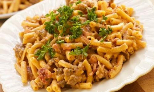 Quick & Easy Sausage, Macaroni and Cheese Dinner