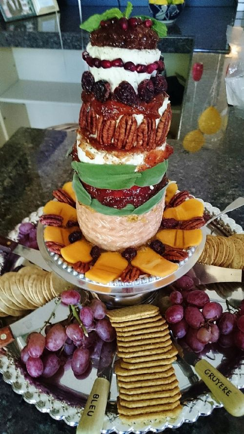Cheese Tower w/Fruits & Herbs
