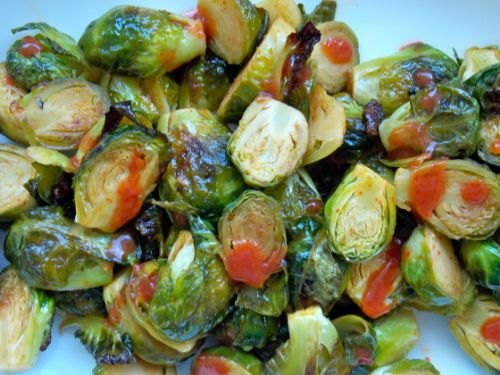 Sriracha and Honey Glazed Brussels Sprouts