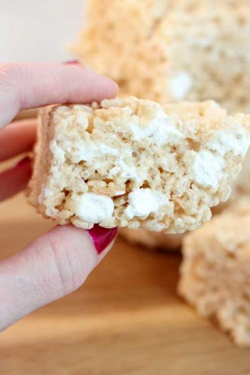 bakery style rice krispie bars