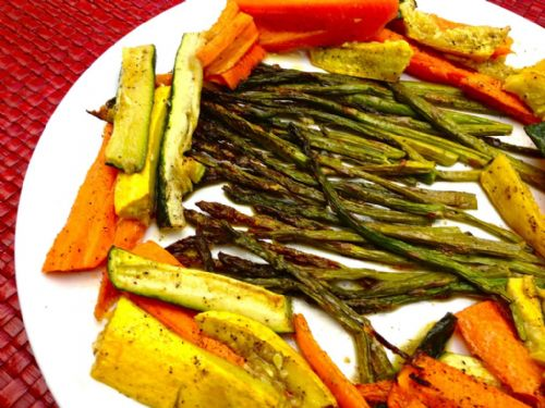 Roasted Asparagus, Carrots and Zucchini